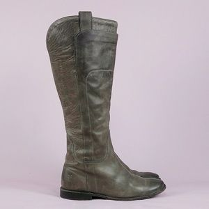 Frye Gray Paige Tall Riding Boots sz 7 B Med